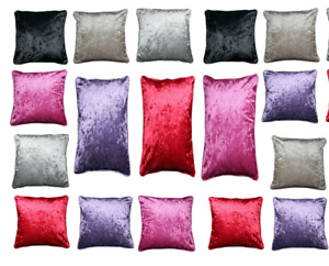 Crushed Velvet Dog Bed Covers Only or with Inner Soft FLOOR Cushion REVERSIBLE