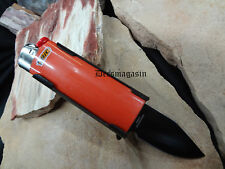 Black Lighter Holder With Spring Assist Knife Lighter Bro KS1516BK