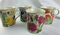 Set 4 Lenox Suzanne Clee Rose The Flower Blossom Mug Collection Tea Coffee Cup's
