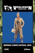 Verlinden  120mm German U-boat Captain 1942 Resin Figure Model Kit #440