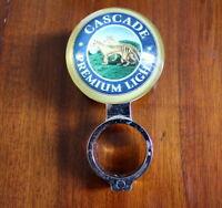 Cascade Premium Light Beer font tap top handle badge - Very Good Condition