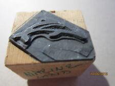 MARINELAND DOLPHIN PRINTERS Wood Block Printing Metal Stamp