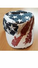 Cuba Cap USA, Stars and Stripes, Western, Trucker, motociclista, unisex