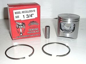 "MCCULLOCH 10-10 1 3/4""  REPLACEMENT PISTON KIT, REPLACES PART # 69212, NEW"