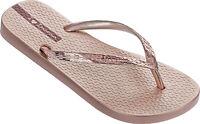 Ladies Ipanema Glam 21 Rose Metallic Scented Rubber Flip Flops Toe Post Sandals
