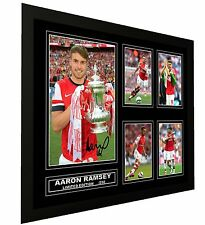 AARON RAMSEY ARSENAL FC SIGNED LIMITED EDITION FRAMED MEMORABILIA