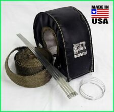 BLACK T4 TURBO BLANKET TITANIUM 25 FT ROLL STAINLESS TIES THERMAL ZERO USA MADE