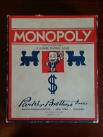 Vintage Monopoly Game Parker Brothers PB Trading Game 1936