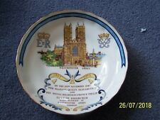 Unboxed Dish ~ Silver Wedding Anniversary ~ Queen Elizabeth II and Prince Philip
