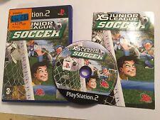 PLAYSTATION 2 PS2 partita di football XS JR. LEAGUE SOCCER + BOX + ISTRUZIONI COMPLETE