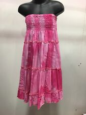 Tiered Boho Gypsy Dress/Skirt Pink Tie Dyed For Ages 6-8yrs .