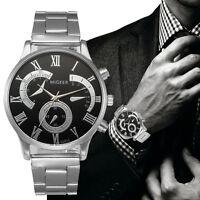 Casual Men's Luxury Watch Stainless Steel Watch Sport Analog Quartz Wristwatches