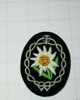 Edelweiss Patch WW2 German Army Mountain Troops Insignia Badge Hand Embroidered
