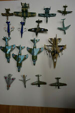 16 Diecast areoplanes MATCHBOX DINKY and others Lot # 1 Military PLANES NICE #1