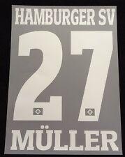 HSV Hamburger SV MÜLLER Player Flock 25 cm fürs adidas Away Trikot 2015-2016