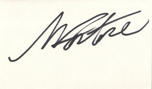 Ilie Nastase - Legendary Romanian Tennis Player - In Person Signed Card.