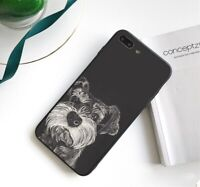 Lovely Dog puppy Schnauzer Case cover iPhone 5 5S SE 6 6S 7 8 + plus X XS XR MAX