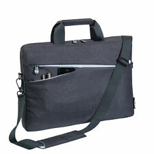 Notebooktasche 17,3 Zoll Laptoptasche mit Zubehörfächer, Schultergurt, schwarz