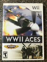 WWII Aces (WW2)- Nintendo Wii - Complete w/ Manual - Clean & Tested - Free Ship