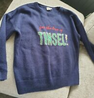 CHRISTMAS SWEATER JUMPER FROM ASOS 'FOR THE LOVE OF TINSEL' SIZE 22 WORN ONCE