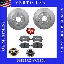 Front Kit (2) Brake Rotors and (1 set) Ceramic Brake Pads with Lifetime Warranty