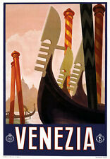 T1 Vintage 1920's Italian Venice Travel Poster A1 A2 A3