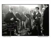MICHAEL APTED JAMES BOND DIRECTOR SIGNED AUTOGRAPH 10x8 PHOTO w/ PIERCE BROSNAN