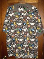 DR Dream USA Men's XL Gray Black Short Sleeve Polo Shirt Animal Characters