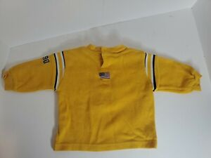 Polo Ralph Lauren Baby Boys Size 6/9 Yellow Long Sleeve Pullover Sweater