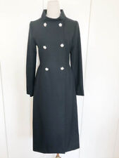 TRACEY REESE DOUBLE BREASTED CRYSTAL BUTTONS LONG COAT Sz 2