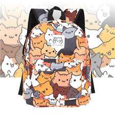 Anime Game Neko Atsume Cat Backpack Shoulder School Bag Students Girl Bookbag