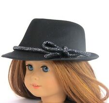 """Doll Clothes AG 18"""" Fedora Hat Black Made To Fit American Girl Dolls"""