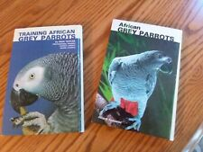 New listing 2 African Grey Parrot Books Hard Cover