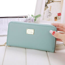 Women Zipper Leather Long Purse Ladies Clutch Coin Phone Bag Wallet Card Holder