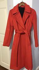 "$798 Diane von Furstenberg Wool blend ""Mikhalia""wrap coat NWT Poppy Sz 2"
