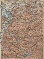 VORARLBERG & BREGENZER WALD. Bludenz St Anton Zürs Lech See Ischgl 1927 map