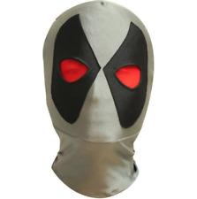 Gris Deadpool Spandez Máscara Mexicano Lucha Libre Disfraz Halloween Adulto Niño