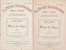 La petite illustration Roman Théâtre Plaisir du Japon de Ludovic Naudeau - 1922