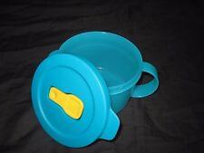 TUPPERWARE Crystalwave Microwave Safe Reheatable 2 Cup Soup Mug Flip Steam Vent