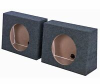 "Q-POWER QTW10 Single 10"" Sealed Car Audio Subwoofer Sub Box Enclosures (2 Pack)"