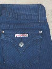Hudson Signature Bootcut Jeans Sz 25  w Ribbed Stripe Denim & Flap Pocs
