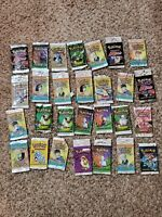 28 vintage pokemon open packs from wotc sets from base set to neo