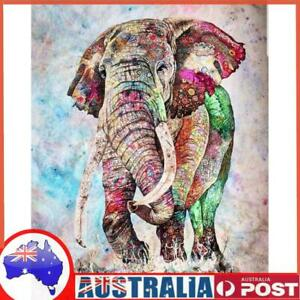 Painting By Numbers Kit DIY Color Elephant Canvas Oil Art Picture Craft