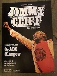 Jimmy Cliff -  Concert / gig poster, Glasgow  - June 2013