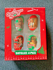 """""""A CHRISTMAS STORY"""" Movie  SHOT GLASS SET OF 4 - New in Box"""