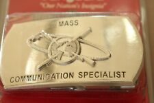 USN NAVY USS SHIP SHORE AIR MASS COMMUNICATIONS SPEC RATE SPECIALTY BELT BUCKLE
