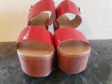 N by Nicole Miller Size 8.5 M Red  Wedge Heels