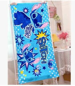 lilo&stitch blue cotton bathing towel  swimming towels fashion  gift