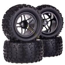 SET 1/10 Monster Truck 12MM HEX Wheel Rim & Tyre,Tires ABF Fit TRAXXAS HSP HPI