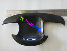 Black Carbon 4door Handle Bowl Cover For Toyota Belta Yaris Vios Sedan 2007 2012